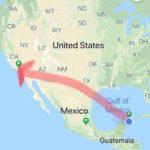 【58歳350日世界一周旅行】20190419メキシコ、カンクンからアメリカのサンタモニカへ